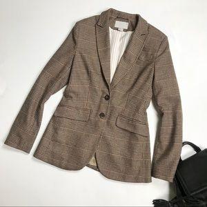 H&M Houndstooth Blazer Plaid Trend Jacket